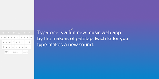 Typatone screenshot